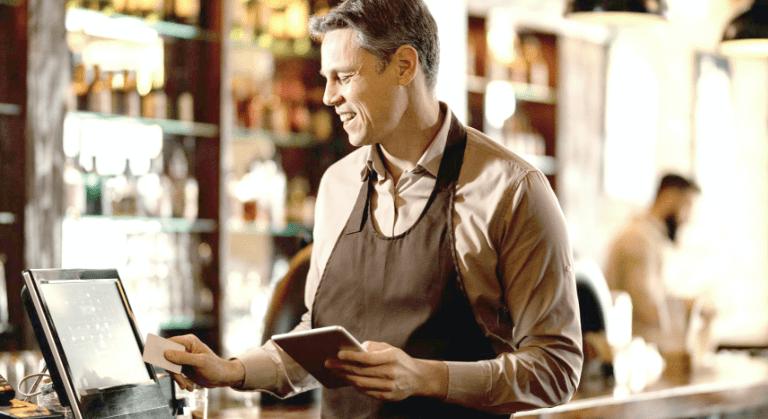 Man on cashier