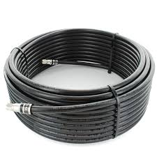 75 ft. Black RG11 Low-Loss Coax (F Male to F Male) SKU: 951175