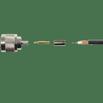 N-Male Crimp Connector (RG-58)